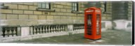 Telephone booth at the roadside, London, England Fine-Art Print