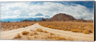 Converging roads, Alabama Hills, Owens Valley, Lone Pine, California, USA Fine-Art Print