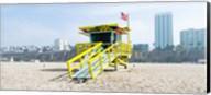 Lifeguard Station on the beach, Santa Monica Beach, Santa Monica, California, USA Fine-Art Print