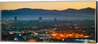 Buildings in a city, Miracle Mile, Hollywood, Griffith Park Observatory, Los Angeles, California, USA Fine-Art Print