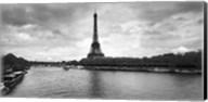 Eiffel Tower from Pont De Bir-Hakeim, Paris, France (black and white) Fine-Art Print