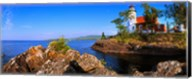 Eagle Harbor Lighthouse at coast, Michigan, USA Fine-Art Print
