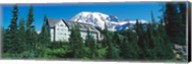 Lodge on a hill, Paradise Lodge, Mt Rainier National Park, Washington State, USA Fine-Art Print