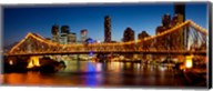 Bridge across a river, Story Bridge, Brisbane River, Brisbane, Queensland, Australia Fine-Art Print