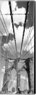 Brooklyn Bridge, Manhattan, New York City (black and white, vertical) Fine-Art Print