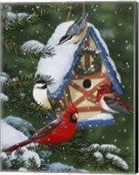 Birds At Feeder (Winter) Fine-Art Print