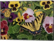 Butterflies And Pansies Fine-Art Print