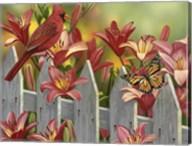 Cardinal and Lilies Fine-Art Print