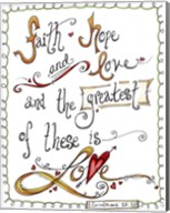 Words of Love - Greatest of These Fine-Art Print