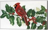 Cardinals & Holly Fine-Art Print