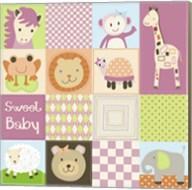 Baby Girl Animal Quilt Fine-Art Print