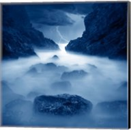 Tormenta en ixtapa Blue Fine-Art Print