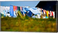 Laundry hanging on the line to dry, Michigan, USA Fine-Art Print