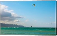 Tourists kiteboarding in the ocean, Maui, Hawaii, USA Fine-Art Print