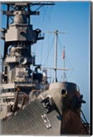 Close UP of USS Missouri, Pearl Harbor, Honolulu, Oahu, Hawaii Fine-Art Print