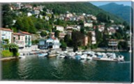 Buildings at the waterfront, Varenna, Lake Como, Lombardy, Italy Fine-Art Print
