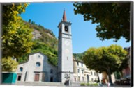 Church on main square, Varenna, Lake Como, Lombardy, Italy Fine-Art Print