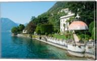 Home along a lake, Lake Como, Sala Comacina, Lombardy, Italy Fine-Art Print