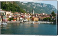 Buildings in a Town at the Waterfront, Varenna, Lake Como, Lombardy, Italy Fine-Art Print