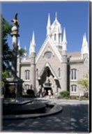 Facade of the Salt Lake Assembly Hall, Temple Square, Salt Lake City, Utah, USA Fine-Art Print