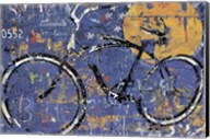 Blue Graffiti Bike Fine-Art Print