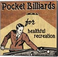 Pocket Billiards Fine-Art Print