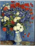 Still Life: Vase with Cornflowers and Poppies, 1887 Fine-Art Print
