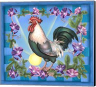 Morning Glory Rooster I Fine-Art Print