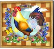 Morning Glory Rooster III Fine-Art Print