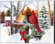 Christmas Cardinals Fine-Art Print