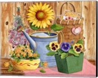 Pansies & Sunflowers Fine-Art Print