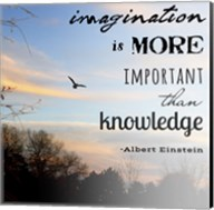 Imagination is More Important Than Knowledge - Albert Einstein Fine-Art Print