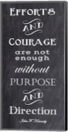 Efforts & Courage Quote Fine-Art Print