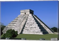 Old ruins of a pyramid,  Chichen Itza Mayan Fine-Art Print