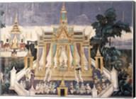 Wall mural depicting the Ramayana story, Royal Pavilion Fine-Art Print