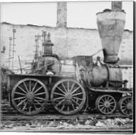 Richmond, Va. Damaged locomotives Fine-Art Print