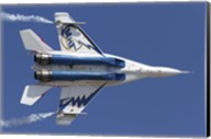 Bottom view of a Russian MiG-29OVT aerobatic aircraft Fine-Art Print
