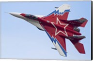 Top view of a Russian MiG-29OVT aerobatic aircraft Fine-Art Print