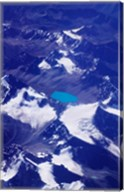 Aerial View of Snow-Capped Peaks on the Tibetan Plateau, Himalayas, Tibet, China Fine-Art Print
