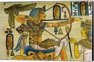 Egypt, hand painted papyrus hunting scene Fine-Art Print