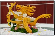 Dragon carved from pumpkin, Yellow Mountain, China Fine-Art Print