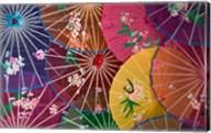 Colorful Silk Umbrellas, China Fine-Art Print