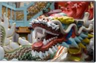 Hong Kong, Goddess of Mercy, Dragon statue Fine-Art Print