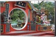 Red Wall with Circle, Goddess of Mercy temple, Repulse Bay, Hong Kong Fine-Art Print