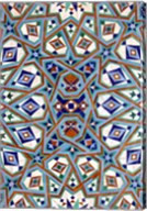 Morocco, Hassan II Mosque mosaic, Islamic tile detail Fine-Art Print