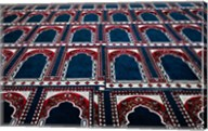 Pattern of prayer rugs, Islamic mosque, Cairo, Egypt Fine-Art Print