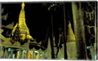 Night View of Illuminated Shwedagon, Myanmar Fine-Art Print