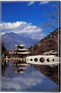 Pagoda, Black Dragon Pool Park, Lijiang, Yunnan, China Fine-Art Print