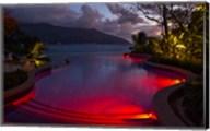Resort, Pool, Northolme Hotel, Mahe Island, Seychelles Fine-Art Print