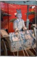 Replica chariot, Imperial burial site, Xian, China Fine-Art Print